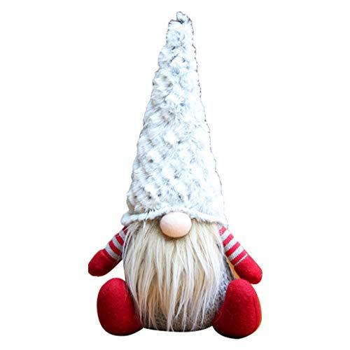 Muñeca de Papá Noel sueca de felpa hecha a mano para decoración de Navidad gris