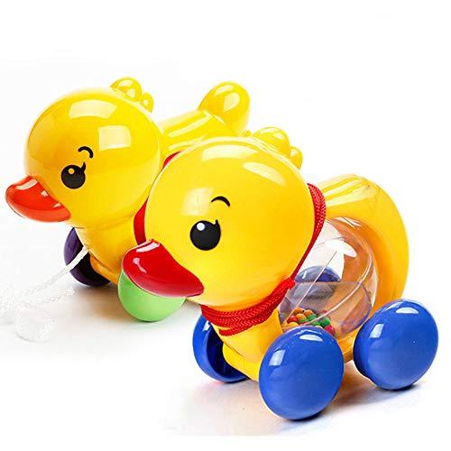 SLONG Baby-Rasseln Zugseil Ente Tiere Hand Klingel Schütteln Glocke Auto Rasseln Spielzeug Musik Handglocken Für Kinder