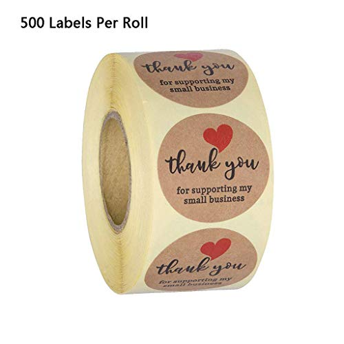 None brand Yinuiousory Sticker Labels, Aufkleber Etiketten, 500pcs Thank You for Supporting My Small Business Stickers Kraft Envelope Seal