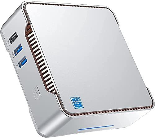 Mini PC Windows 10 Pro, Intel Celeron N3350 Mini Desktop PC 4 GB DDR3 64 GB eMMC, Mini Computer Unterstützung von 4K HD, HDMI/VGA Port 3 Display, Dual WLAN, Gigabit Ethernet, BT4.2
