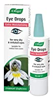 A.Vogel Extra Moisturising Eye Drops contain double the amount of hyaluronic acid for an extra soothing and longer lasting experience For very dry, irritated or tired eyes Quick intensive moisturisation of the eye surface Helps to soothe and maintain...