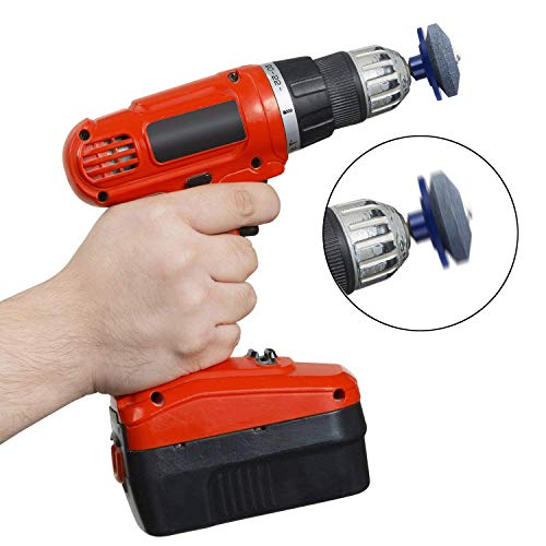 Bssay 4 Pack Lawn Mower Blade Sharpener Lawnmower Sharpen for Power Drill Hand Drill