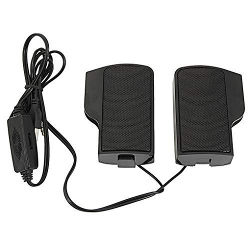 2pcs Wall-Mounted Laptop External Speakers Set Loud Clear Notebook Computer Speakers Black