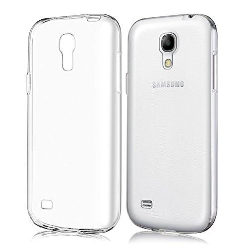 REY Funda Carcasa Gel Transparente para Samsung Galaxy S4, Ultra Fina 0,33mm, Silicona TPU de Alta Resistencia y Flexibilidad