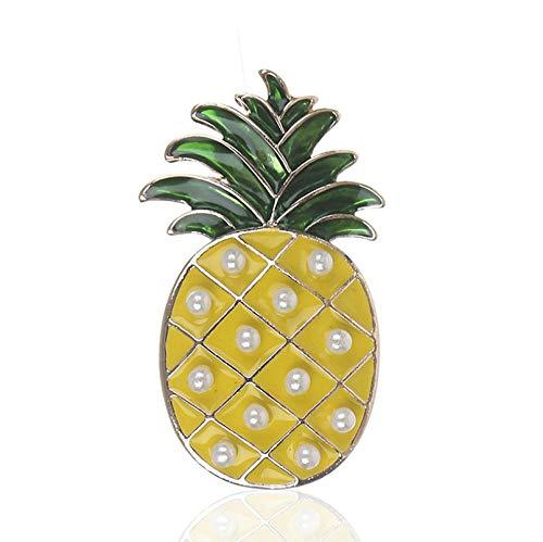 SHANGZHIQIN Damenmode Brosche Schöne, Cartoon minimalistischen künstliche Perle Tropische Früchte Ananas Schneemann Weihnachtsbaum