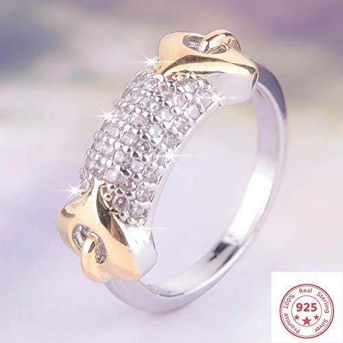 IWINO 925 zilveren kleur witte diamanten ring voor vrouwen edelsteen 925 sieraden verlovingsring decoratieve ring juwelendoos