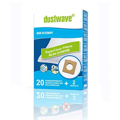 dustwave – 20 bolsas de filtro de polvo para Bluesky – BVC 1600/BVC1600 – Bolsa para aspiradora de marca dustwave® / Fabricado en Alemania + Incluye microfiltro