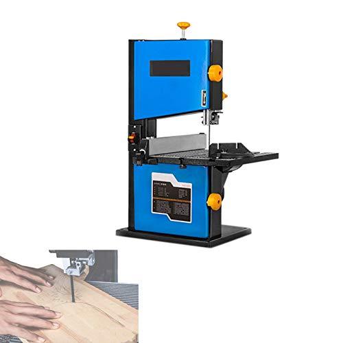 Sierra de cinta eléctrica de 350 W, sierras caladoras de sobremesa con hoja de sierra de 1400 Mm / 55 ', ancho de corte 200 Mm / 8', altura de corte 80 Mm / 3 'para taller de bricolaje en casa, carpi
