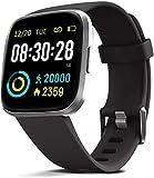 MorePro Montre Intelligente étanche IP68 avec Moniteur de fréquence Cardiaque, Pression artérielle, Suivi du Sommeil, Compteur de Calories, podomètre pour Homme et Femme avec écran Tactile
