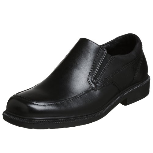 Hush Puppies Men's Leverage Slip-On Loafer, Black, 9.5 W US