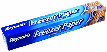 Reynolds Freezer Paper 50 sq ft/ 4.64 m sq 12.1 m x 381 mm Plastic Coated Freezer Paper, White by Reynolds