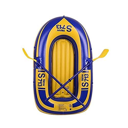 A/A Lancha inflable de PVC para kayak, canoa, para 1 persona, remo y pesca, buceo flotante, 100 x 52 cm