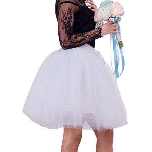 LINNUO Wo ballet falda 50S Laye Partido enagua tul