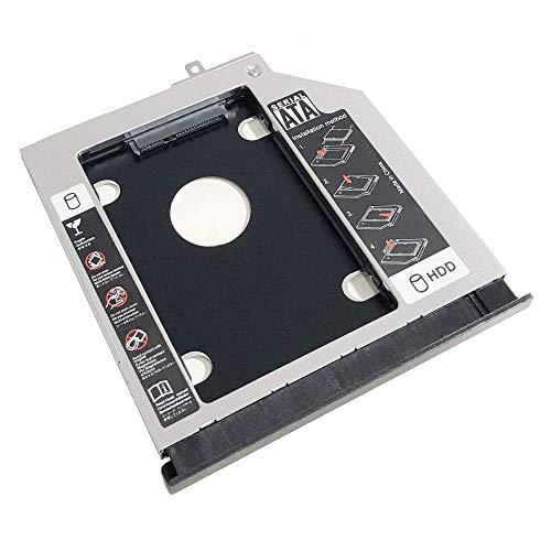 2nd HDD SSD Disco Duro Óptico Marco Caddy Adaptador para Asus A555 K555 X554 F554 X555 F555 FL5600 FL5800 Series con bisel Montaje en Panel Frontal Soporte Metal