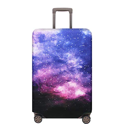 OrgaWise Travel Luggage Cover Elastic Suitcase Trolley Protector Cover for 22-28 Inch Luggage (Send one Luggage tag Free) (L, Galaxy)