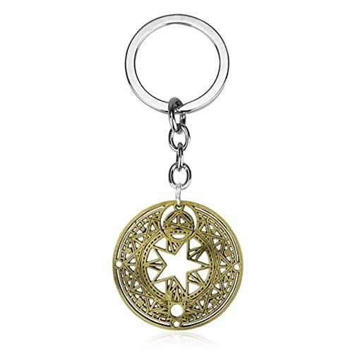 Anime Trinket Keychain Card Captor Sakura Star Scepter Pendant Keyrings Cartoon Jewelry Keyholder Backpack Key Chains