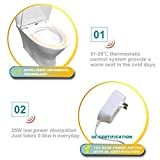 Wealth Automatischer beheizter Toilettensitz, IPX4, Sofortige Heizung mit konstanter Temperatur, Toilettenartikel - 2