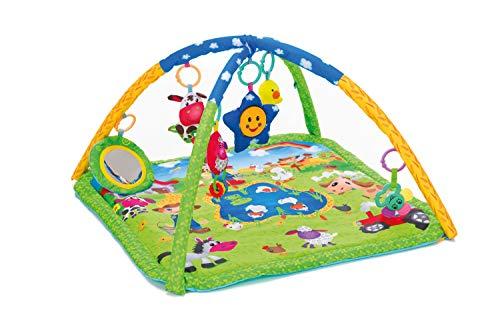 Fillikid Aktivbogen Bauernhof Exclusiv, Spielmatte mit Spieluhr, Erlebnisdecke, Krabbeldecke mit Musik und Lichtern, Spieldecke für Babys mit weichem Spielbogen, ab 0 Monaten