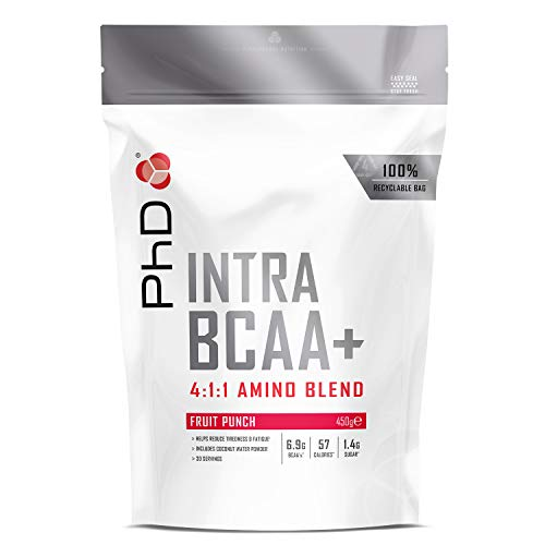 PhD Intra BCAA Supplement, 450 g, Fruit Punch