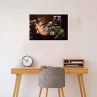 WKAQM 大人のエロポスターセクシーなヌード女性ウォールアートセクシーなアニメ画像寝室の壁の装飾絵画セクシーな裸の女の子のポスター18-Rキャンバスプリント50×70cmフレームレス L2K-052