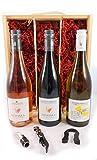 Loire Valley Red, White & Rose Triple Pack 2019 Destinea en una caja de regalo forrada de seda con cuatro accesorios de vino, 1 x 700ml