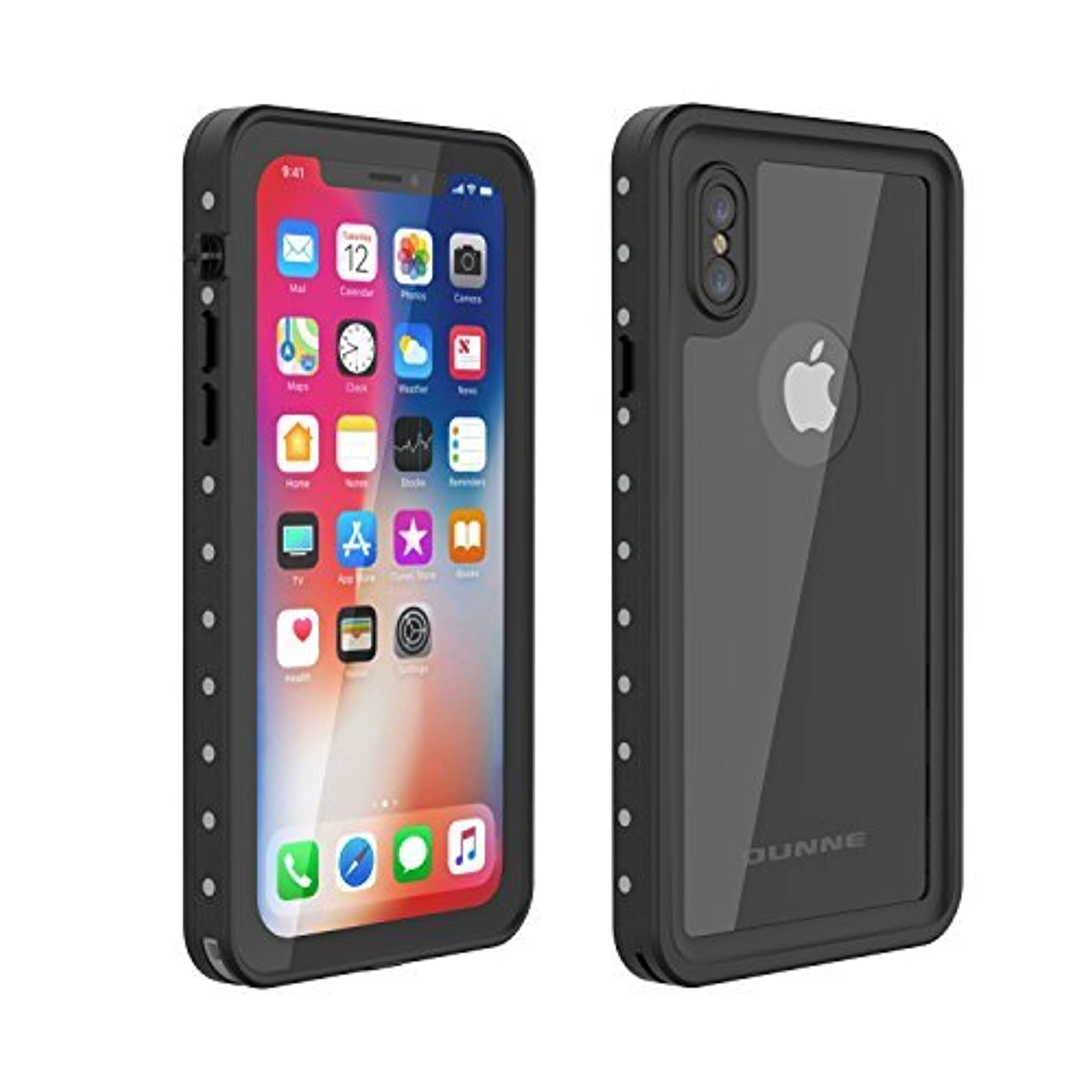 OUNNE iPhone X/Xs Waterproof Case, Underwater Full Sealed Cover Snowproof Shockproof Dirtproof IP68 Certified Waterproof Case with Built-in Screen Protector for iPhone X/Xs