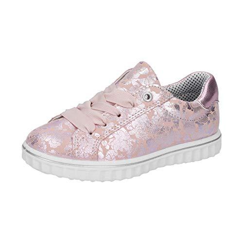RICOSTA Jody - Zapatillas deportivas para niña, anchura: normal, sueltas, color Beige, talla 34 EU