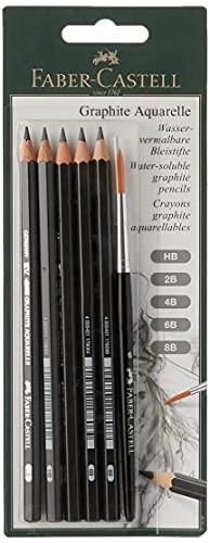 Faber-Castell 117897 - Blíster con 5 ecolápices, de grafito acuarelables, para artistas Graphite Aquarelle