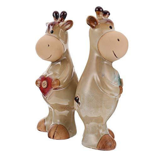 Homoyoyo Estatuilla de Buey de Cerámica Mini Vaca Escultura Estatua Animal Figuras Decoración para Escritorio de Oficina Deco Objeto Decoración de Mesa de Sala de Estar