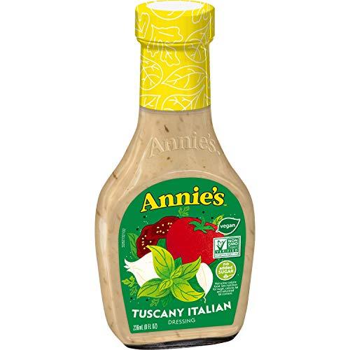Annie's Natural Tuscany Italian Salad Dressing, Vegan, Non-GMO, 8 fl oz