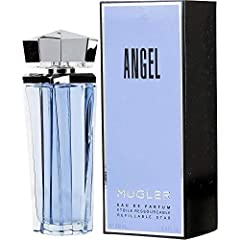 Beautiful bottle is refillable Bergamot, Caramel, Chocolate, Citrus, Coumarin, Dew Berry, Floral, Hedione, Helional, Honey, Patchouli, Red Berry, Vanilla, Wood Angel scent was created by the design house of Thierry Mugler