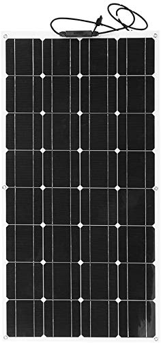 LJYLF 18V 100W Flexible Monocrystalline Solar Panel, Ultra Lightweight Outdoor Solar Battery Charger, Solar Power Module, for RV, Boat, Cabin, Tent, Car,Black
