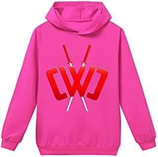 Chad Wild Clay Hoodies Casual Pullover Sweatershirts sweater for KIDS children boys (K,150cm)