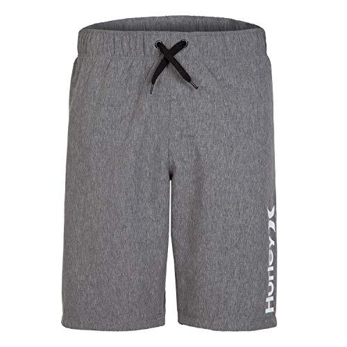 Hurley Boys' Little Pull On Board Shorts, Black Heather, 6