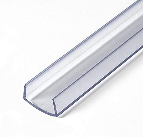 Outwater Plastics 341 Cl Clear 3 4 Rigid Vinyl Clear Plastic U Channel C Channel 36 Inch Lengths product image