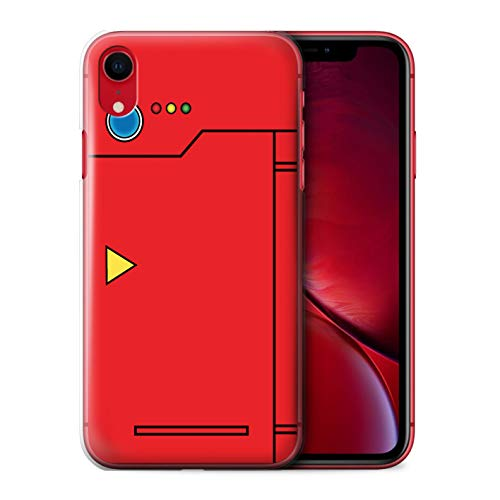 Phone Case for Apple iPhone XR Anime Cartoon Codex Red Design Transparent Clear Ultra Slim Thin Hard Back Cover