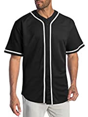 Premium 100% polyester baseball jersey crafted for team events, customization, and business promotions Maximized printability: Tight knit fibers provide superior printing Lightweight material: superior comfort and mobility with soft texture Durable a...