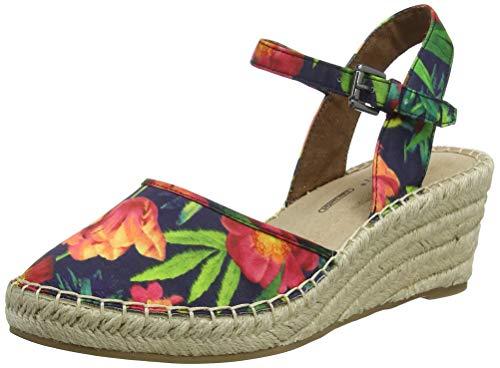 Rockport Marah 2 Piece Closed Espadrille Wedge, Espadrillas Donna, Multicolore (Rainbow Floral 001),...