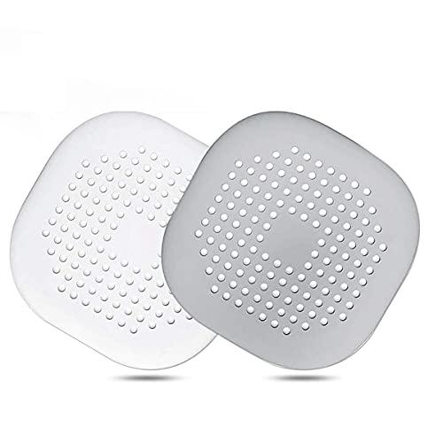 Rendeyuan Drenaje de Cocina y baño y Drenaje de Piso de Silicona antibloqueo con Ventosa fácil de Instalar para bañera - Blanco, Gris - 14x14cm