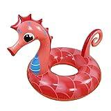 Anillo de natación hinchable para animales, diseño de caballito de mar hinchable, para la piscina, playa, vacaciones, lago o piscina