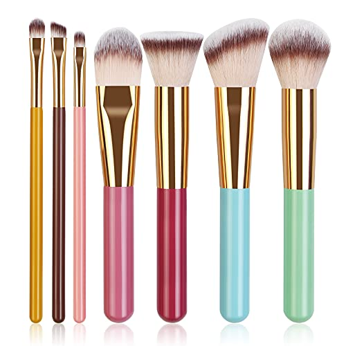 Breteil Makeup Brushes, Professional Makeup Brush Set Premium Synthetic Colorful Travel Make Up Brushes for Women