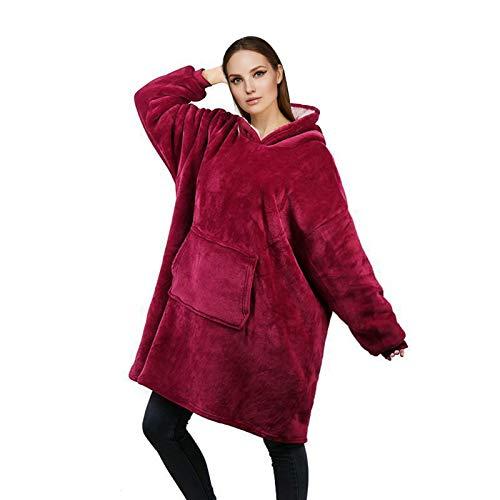 RainRose Blanket Hoodie Sweatshirt Decke, Geschenke Mädchen Decke mit ärmel, Oversize Sherpa Pullover Damen, Weicher Warmer Kapuzen Pullover Hoodie Einheitsgröße für Damen, Herren