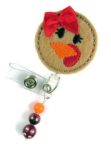 Turkey Face - Nurse Badge Reel - Retractable ID Badge Holder - Nurse Badge - Badge Clip - Badge Reels - Pediatric - RN - Name Badge Holder