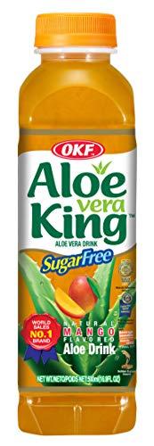 OKF Boisson Aloe Vera Mangue sans Sucre 500 ml 0.5 kg - Pack de 20