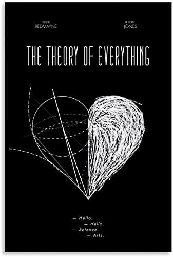 Druck Auf Leinwand 60x80cm Kein Rahmen Filmposter The Theory of Everything Hawking Leinwand Wandkunst Wohnzimmer Poster Schlafzimmer Dekorativ