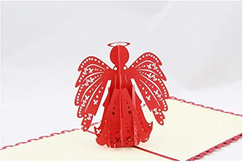 BC Worldwide Ltd handgemachte 3D-Pop-up-Karte Erzengel Weihnachten Taufe Heilige Kommunion Taufe Bestätigung Baby Geburt Ostern Geburtstag gesegnet Gruß Liebe
