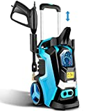 TEANDE Electric Pressure Washer Smart High Pressure Power Washer 1800W Powerful Cleaner Machine , 4 Nozzles, Touch Screen 3 Gear Level,15 Level Pressure(Blue)