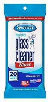 Sprayway SW199R Ammonia-FreeGlass Cleaner Wipes,Fresh Scent 20 Count