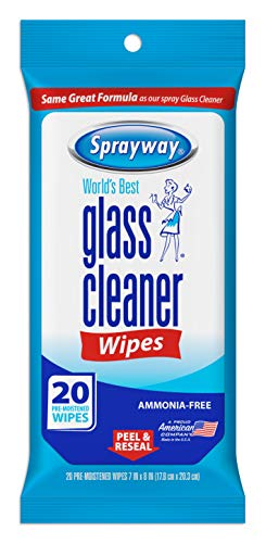 Sprayway SW199R Ammonia-Free Glass Cleaner Wipes, Fresh Scent, 20 Count