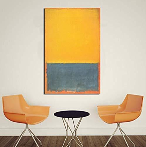 XQWZM Wandkunst Bild Poster, Mark Rothko Klassische Stillleben Ölgemälde Leinwand Moderne Bilder, Für Wohnzimmer Kunst Dekor 50 * 70 cm Ohne Rahmen